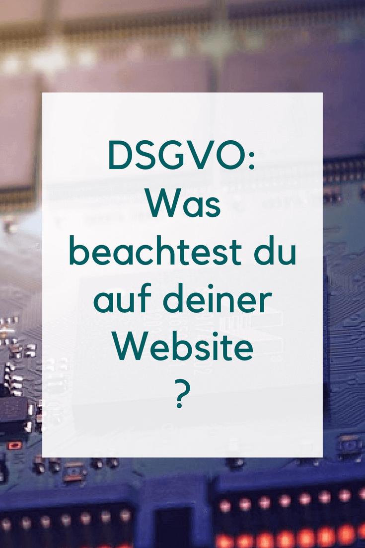Was musst du auf deiner Website für die DSGVO beachten?