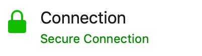 Beispiel: Anzeige für eine SSL-verschlüsselte Website