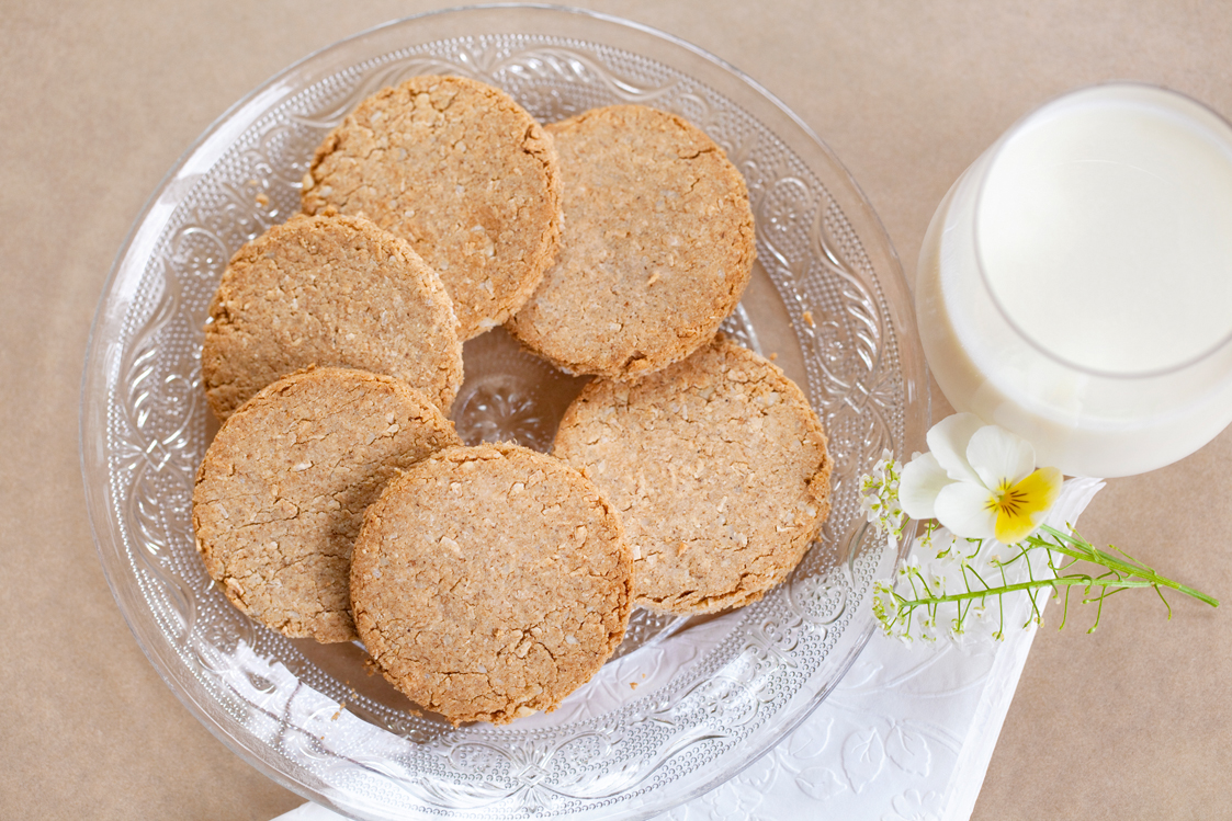 Our Tigernut Hobnobs are perfect with a glass of  raw whole milk