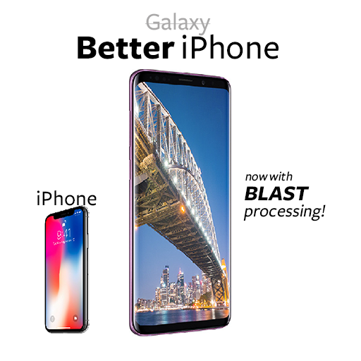 Samsung's Galaxy marketing strategy in one image.