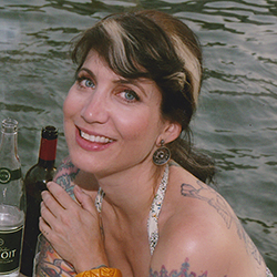Hannah also enjoys many varieties of French alcohol while on board ship.