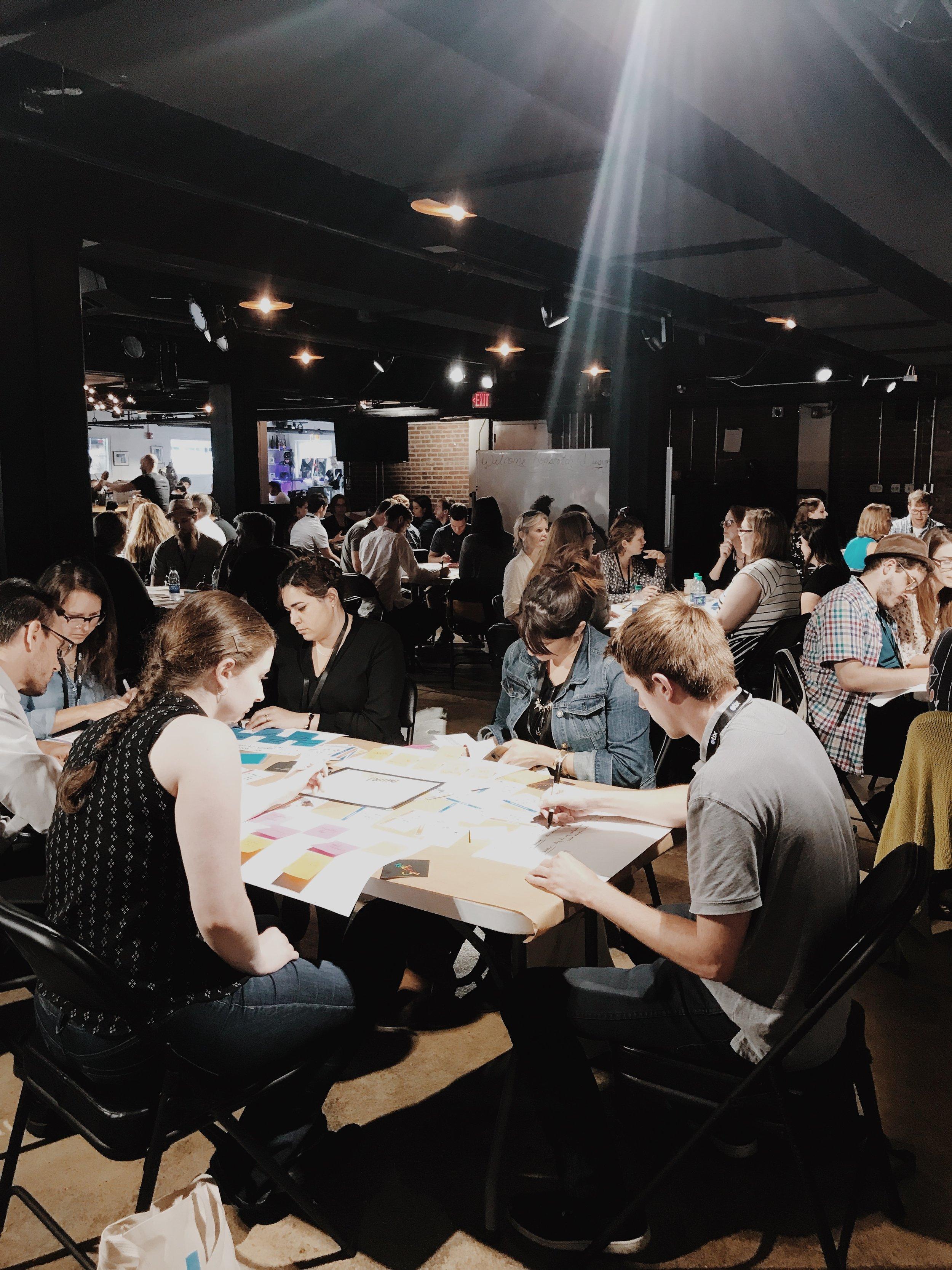 Full-house workshop I facilitated at Hopscotch Design Festival.