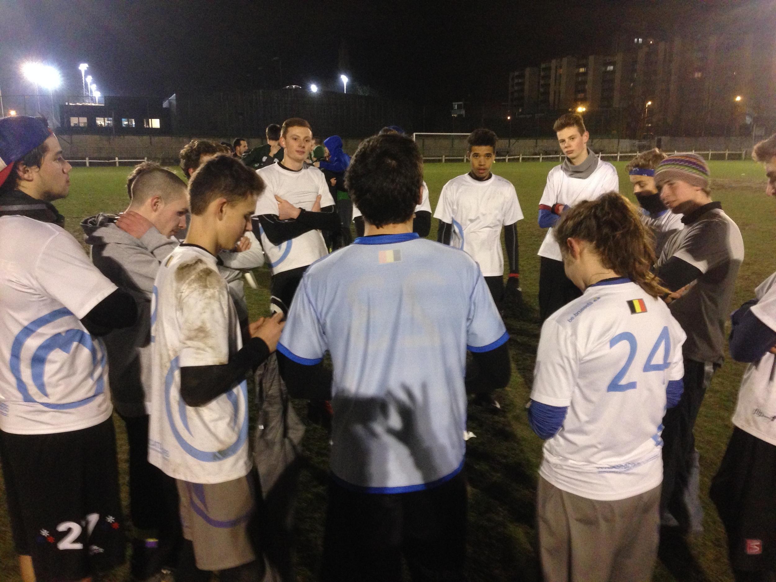 The U23 Mooncatchers, led by their captain V. Ouchinsky