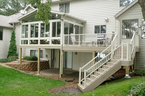 Betterliving railing systems to accent your porch or sunroom
