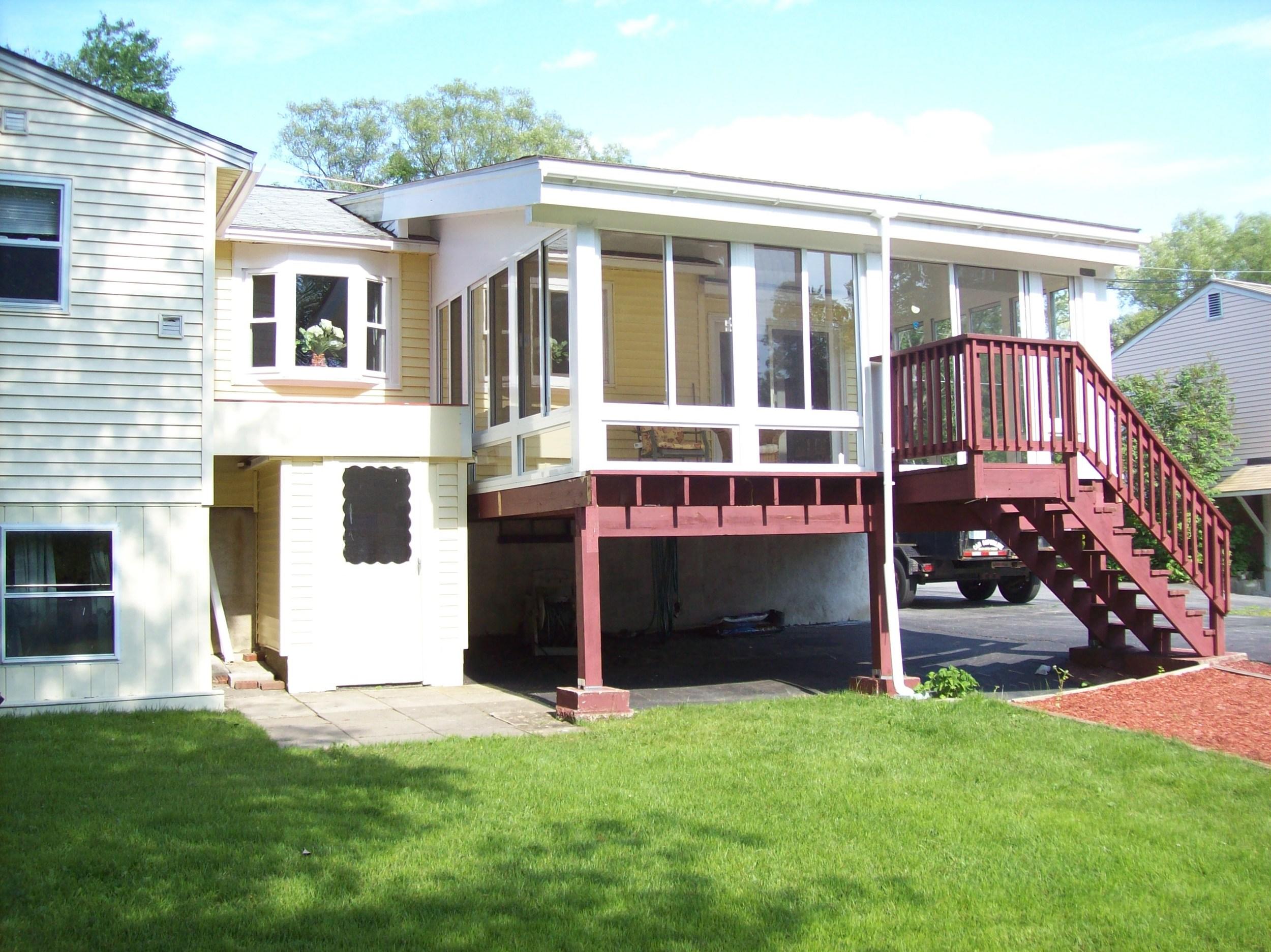 Enclosed Porch After