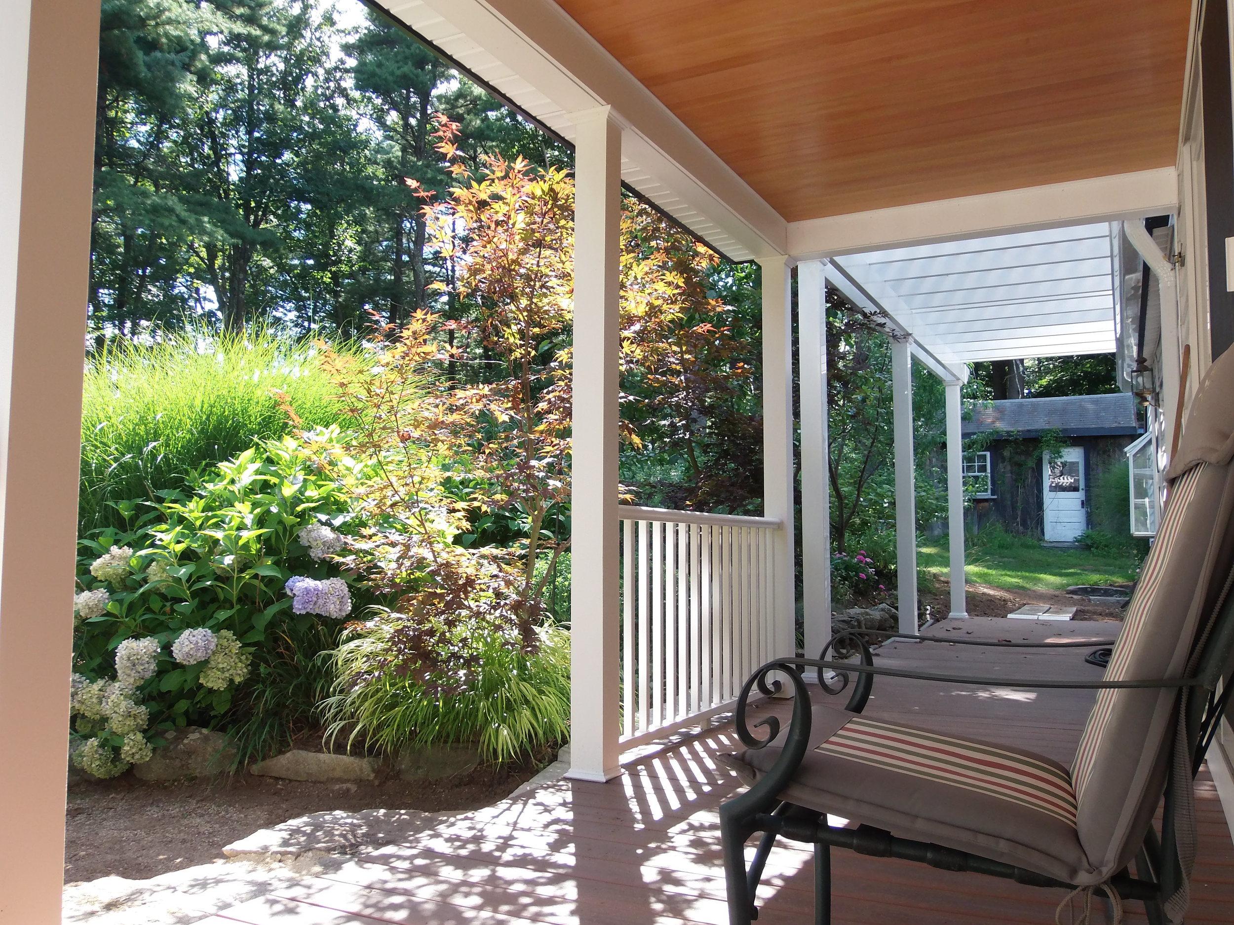 Custom built porches