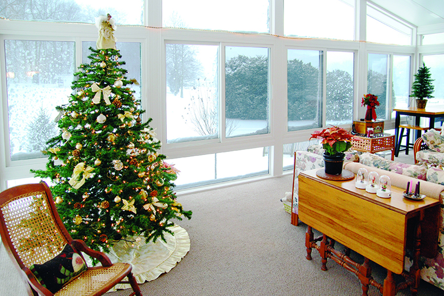Enjoy your sunroom throughout the winter!