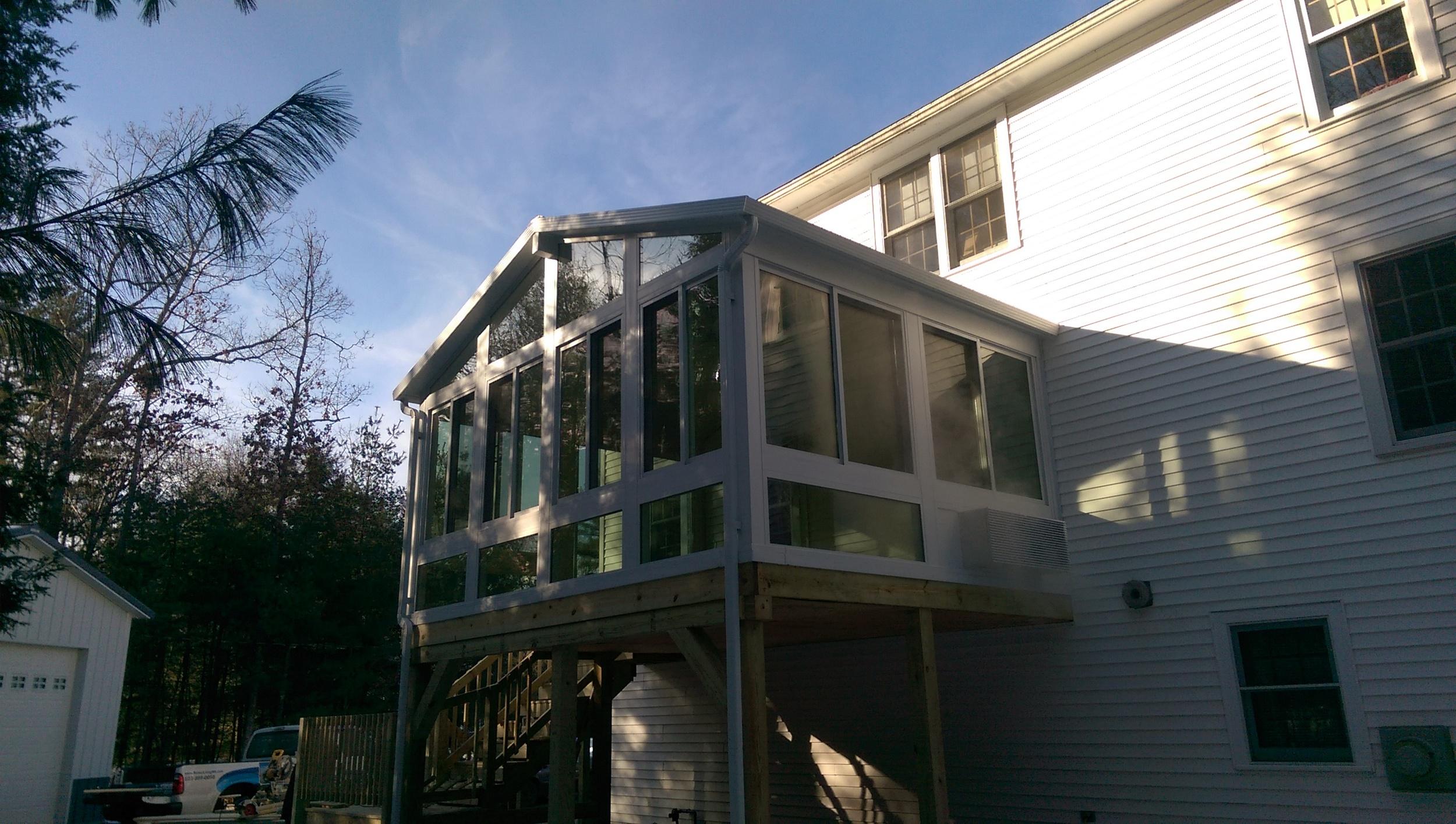 Litchfield, NH Year-round sunroom addition