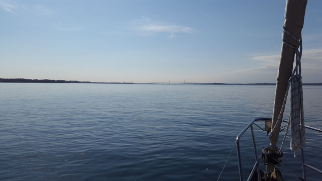 Leaving Narragansett Bay