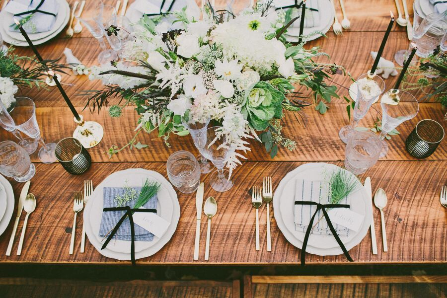 """STYLE ME PRETTY, """"Romantic College Sweethearts Wedding Inspiration"""""""