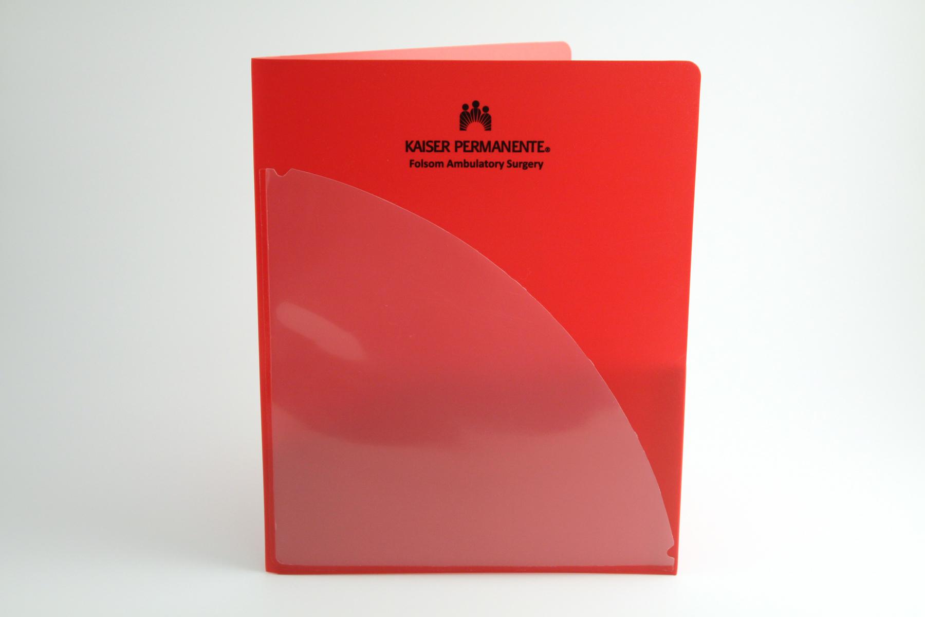 PE Two Pocket Portfolio - Screen Printed