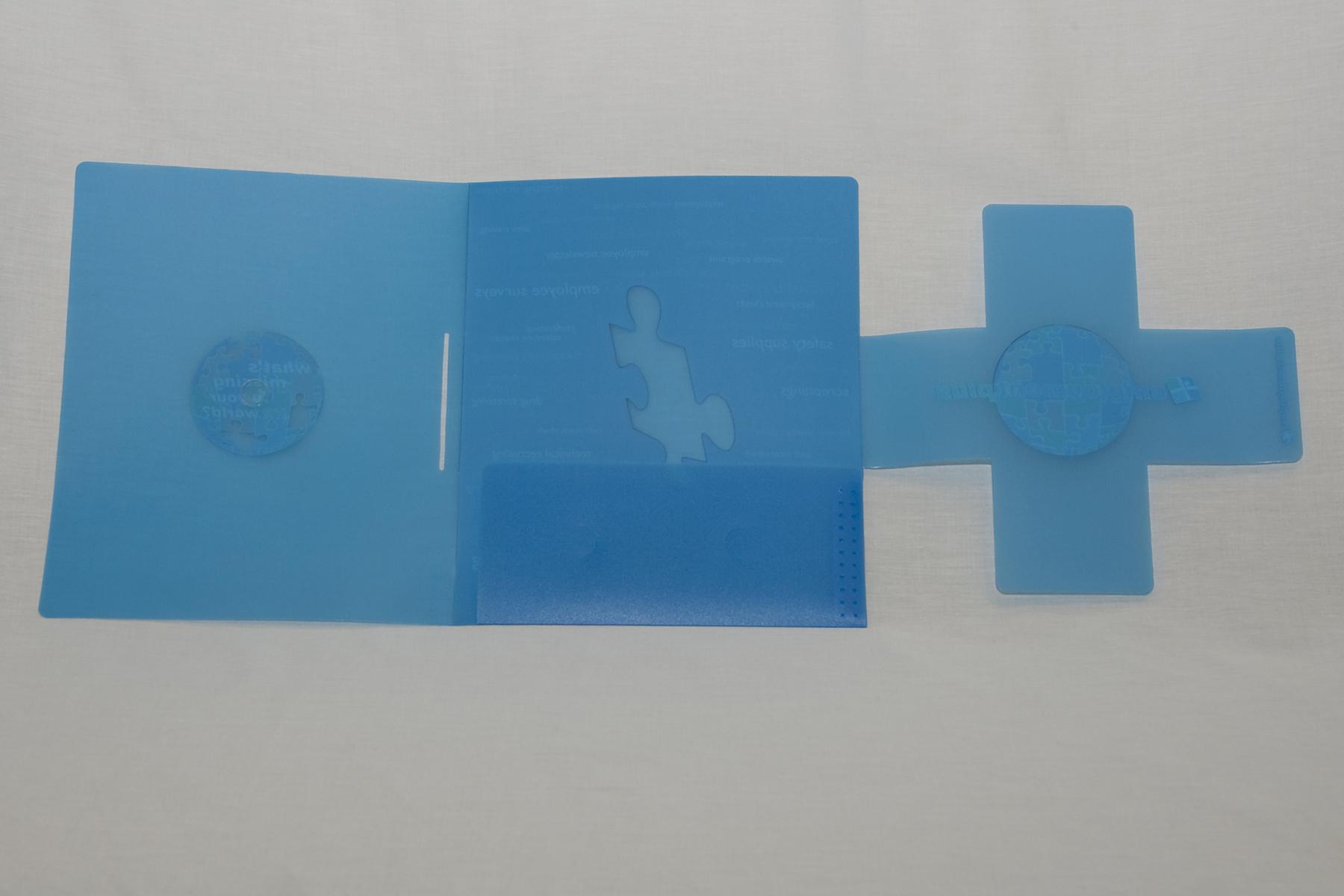 .020ga Custom Blue PP - Offset Printed 4CP + White
