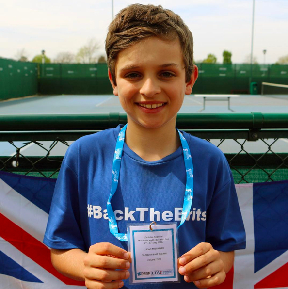 Representing the South East region at a GB Davis Junior event at the National Tennis Centre