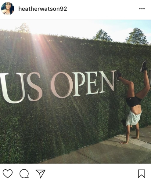 """3.) """"When in doubt, do a handstand"""" Heather Watson"""
