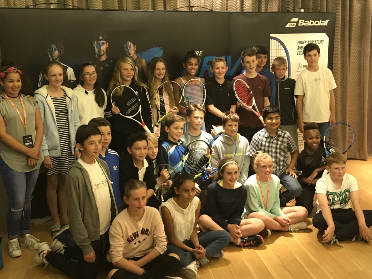 The finalists of the Babolat Cup Uk 2017