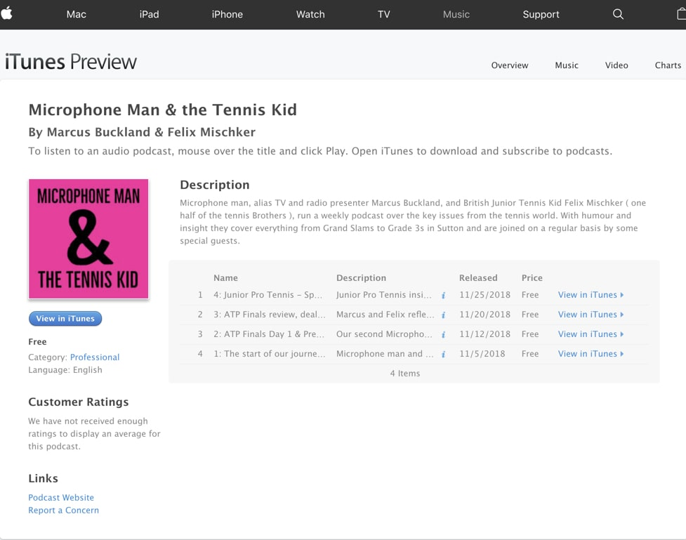 Podcast Homepage - Supports all players like Spotify, iTunes & Google Play