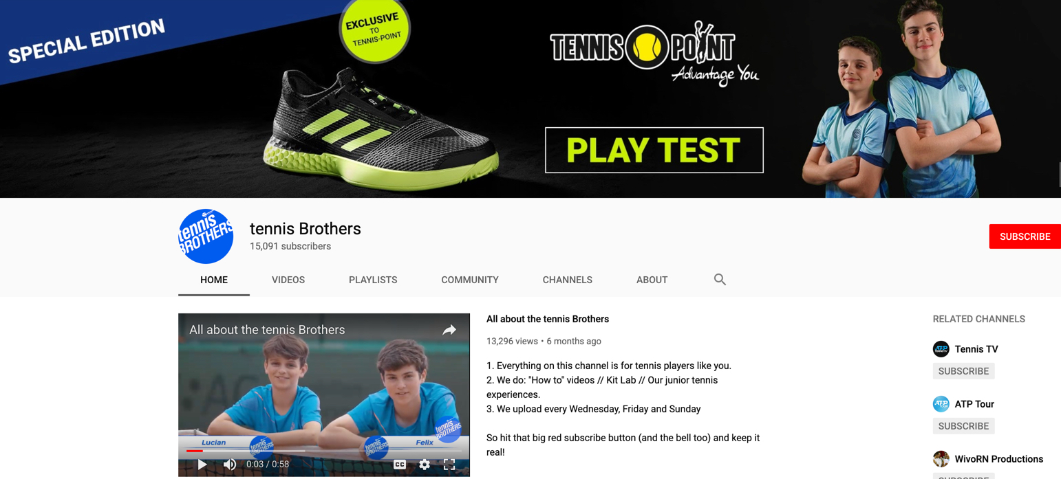 Watch our Tennis videos - Subscribe & join our 15.000 strong community