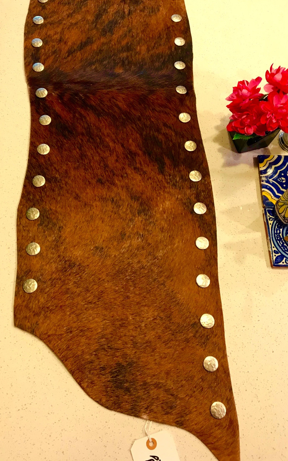 D. Table Runner Of Hair On Hide Cowhide Tanned In Brazil. Theses A Brown