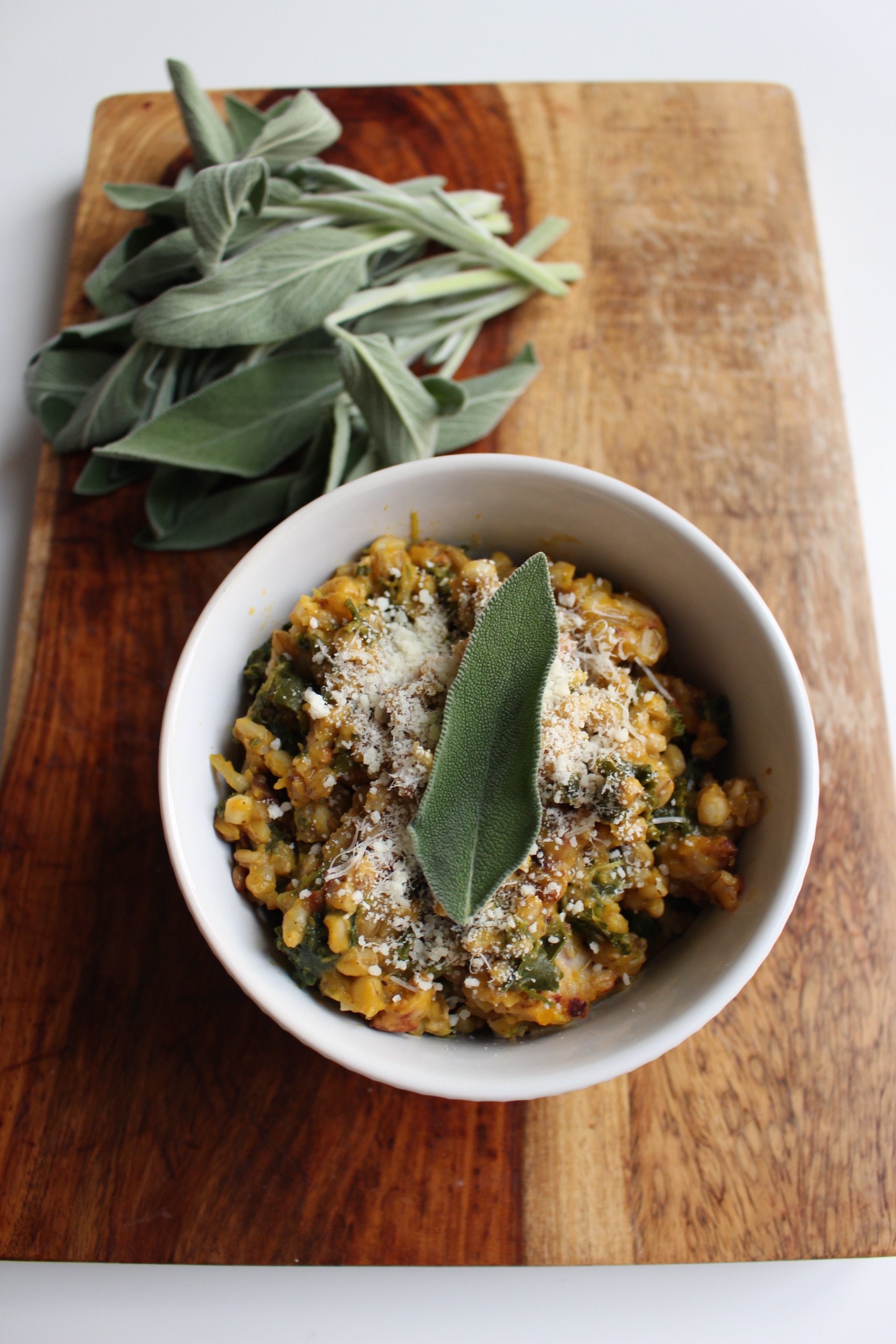 "Barley and squash ""risotto"" 