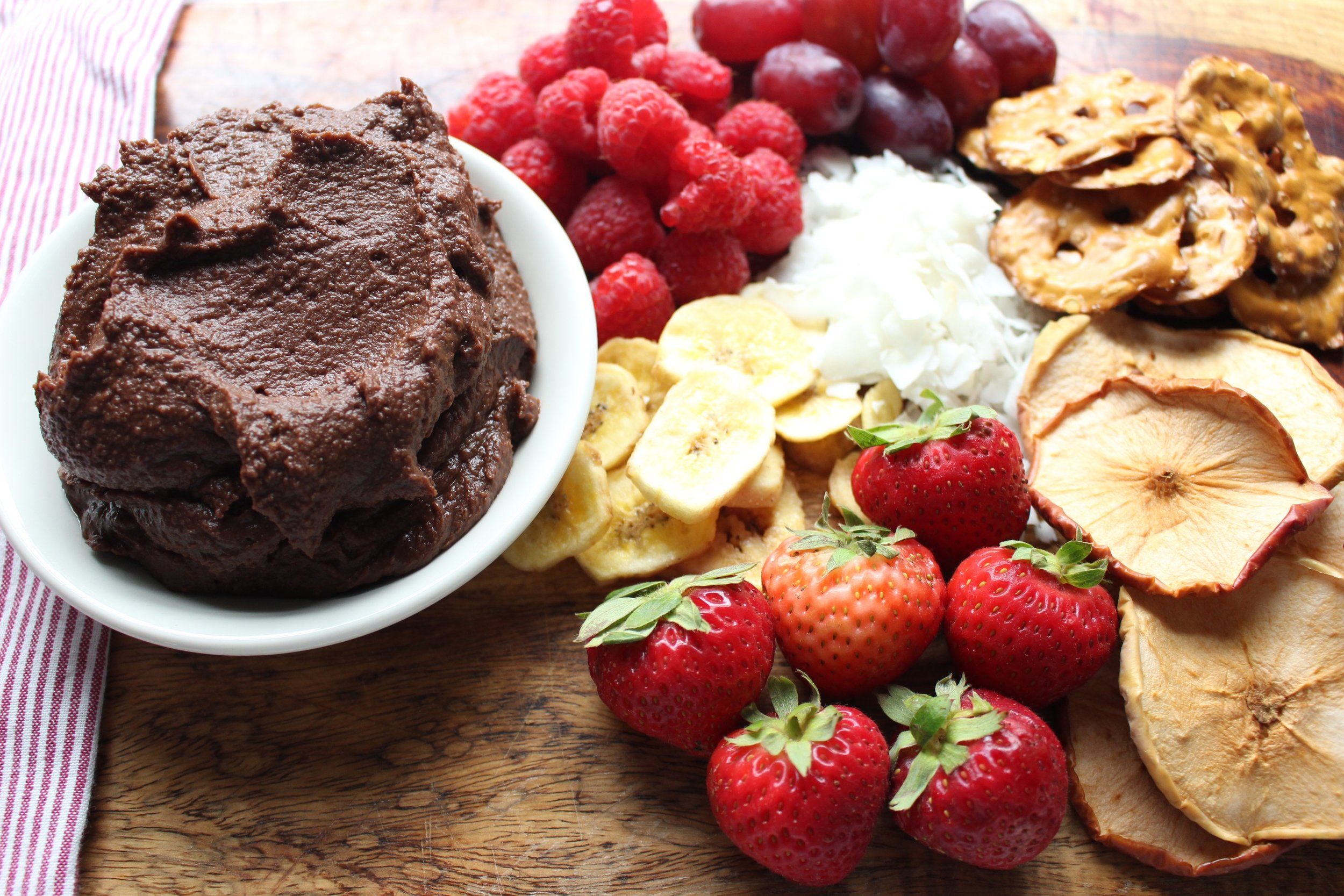 Chocolate hummus!