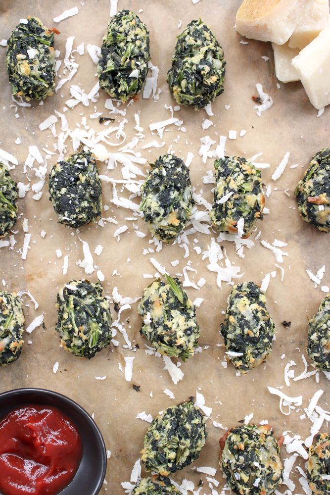 """Spinach and kale tots 