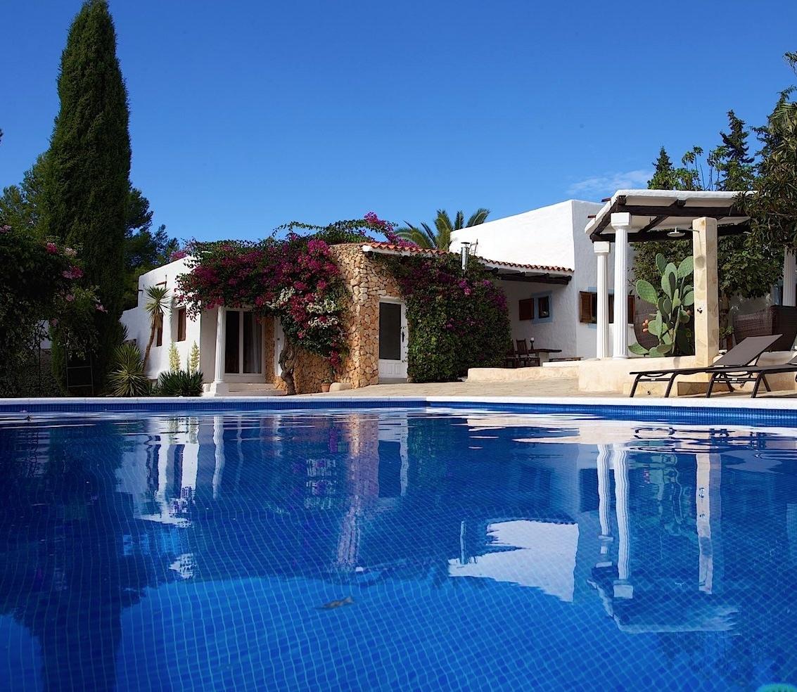 One of the Casa's where Ibiza Retreats hosts their retreats