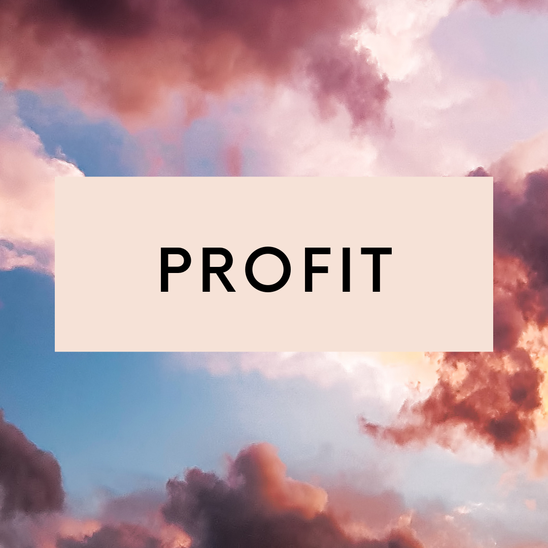 Profit focuses on getting seen and heard and transforming your money mindset and strengthening your wealth awareness so that your money goals become real.
