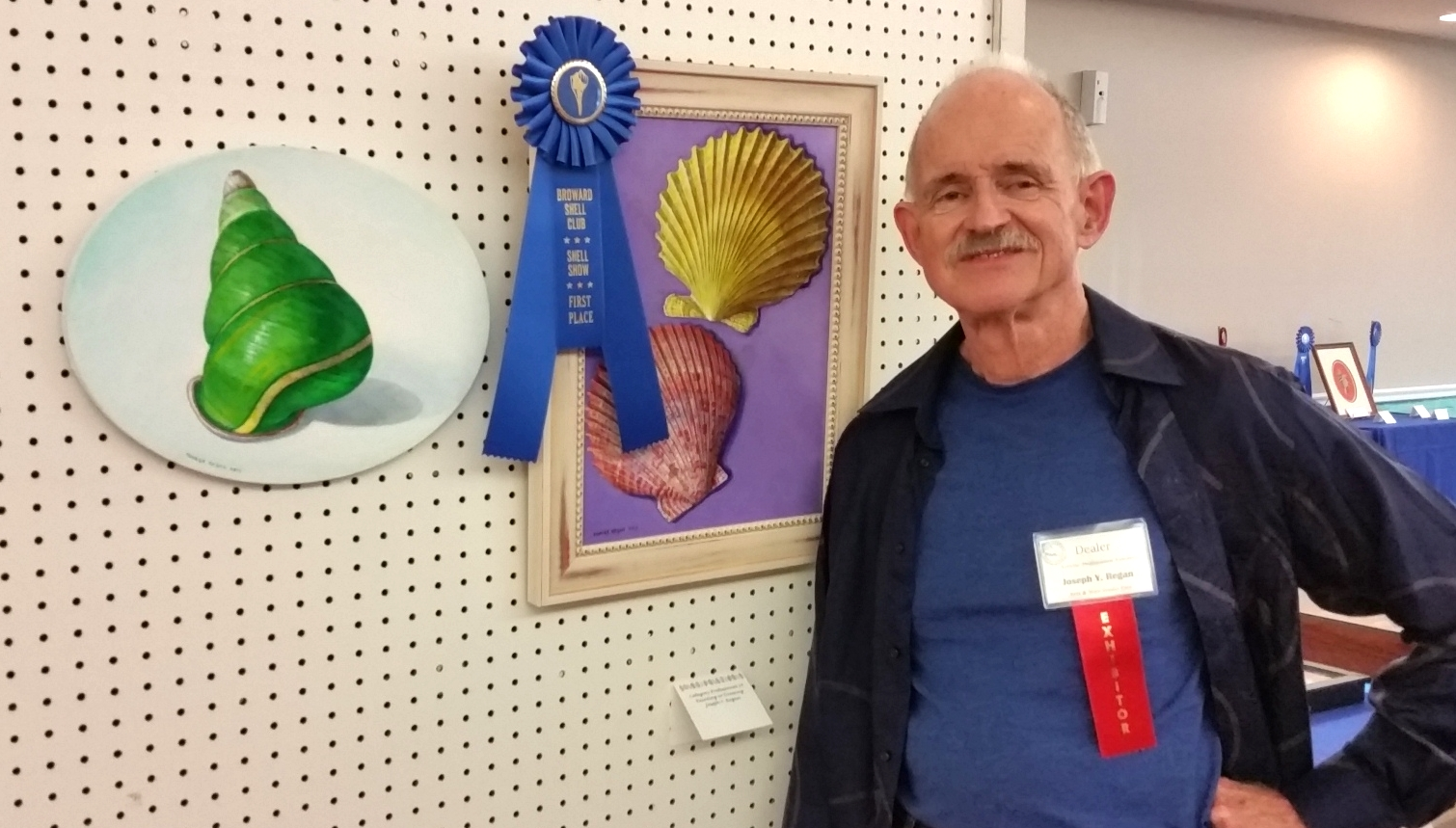 First Place for Professional Artist Painting of Shells at the Broward Shell Show!