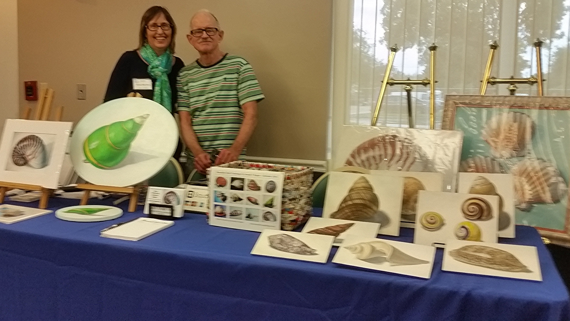 My Shell painting display at the show with business partner Tristina Dietz Elmes.