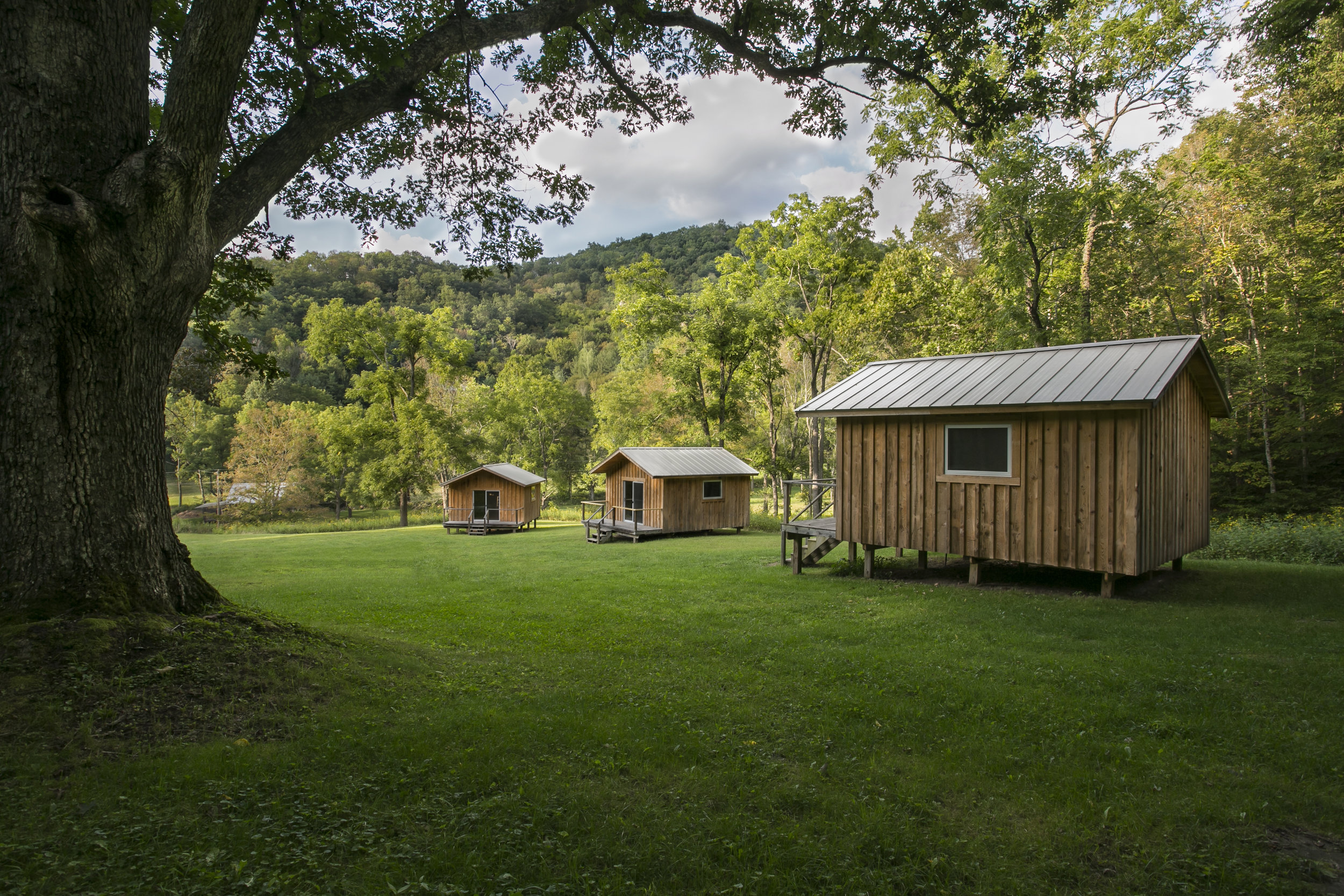 Cabins at the Training Grounds