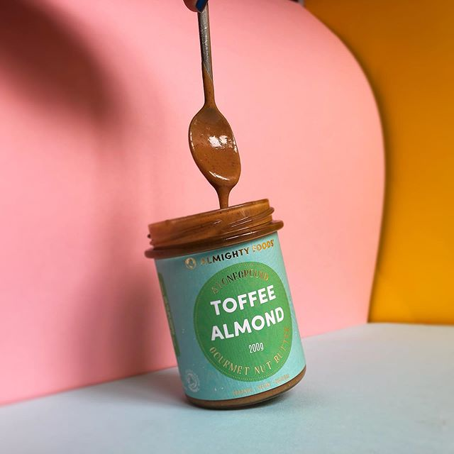 Have you yet experienced Toffee Almond nut butter bliss? 🌈 ⁣ A naturally sweetened, salted almond butter that is slowly stoneground to silky smooth velvety perfection.  100% organic, packed in fully recyclable plastic free packaging and made entirely by passionate people in our little eco powered factory here in Scotland. ⁣ ⁣ #EarthFriendly #sweet #nutty #goodness #yum #organic #gourmet #nutbutter #nutbutteraddict #plasticfree #eco #zerowaste #noplastic #savetheplanet #bio #delicious #almond #uk #scotland #vegan #veganuk #plantpowered #realfood #drooling #foodgasm #feelgood #nourishyourtemple