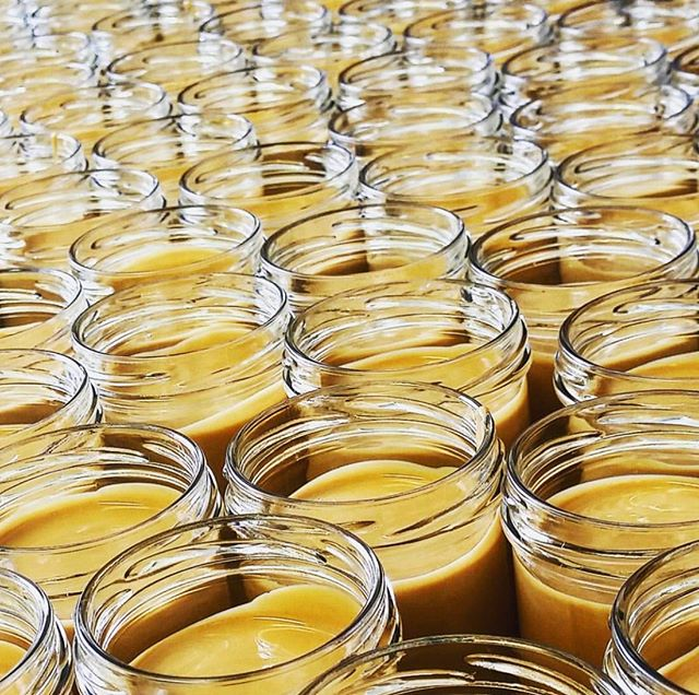 Today's batch of cashew caramello mid production run. ❤️ We are proud to use glass to pack our nut butters, staying away from plastic is core to our values and we love to know we're playing our little part in helping to keep our earth as clean as we possibly can. It's so refreshing to see the genuine concern for environmental issues surrounding the impact people are having on our old world, we stand with all of you who are working to make this existence sustainable for future generations to come ✊🦄🌏 #people #planet #sustainability #reduce #reuse #recycle #zerowaste