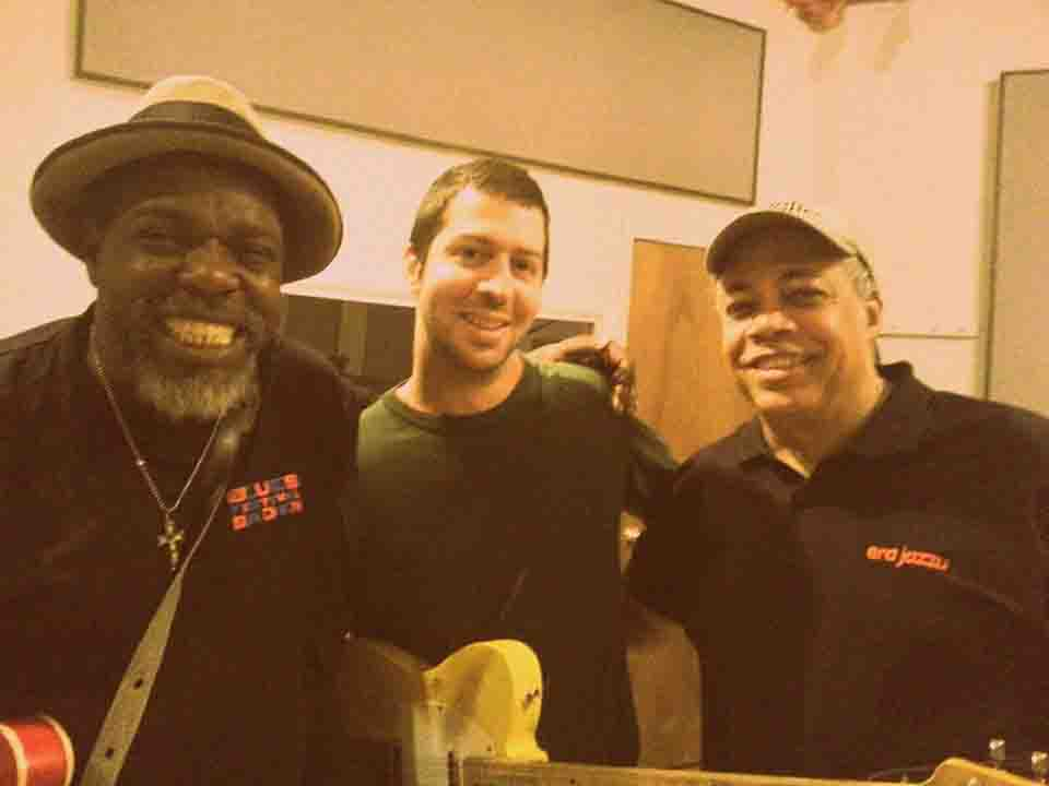 with Lurrie Bell and Billy Branch at Delmark Studios
