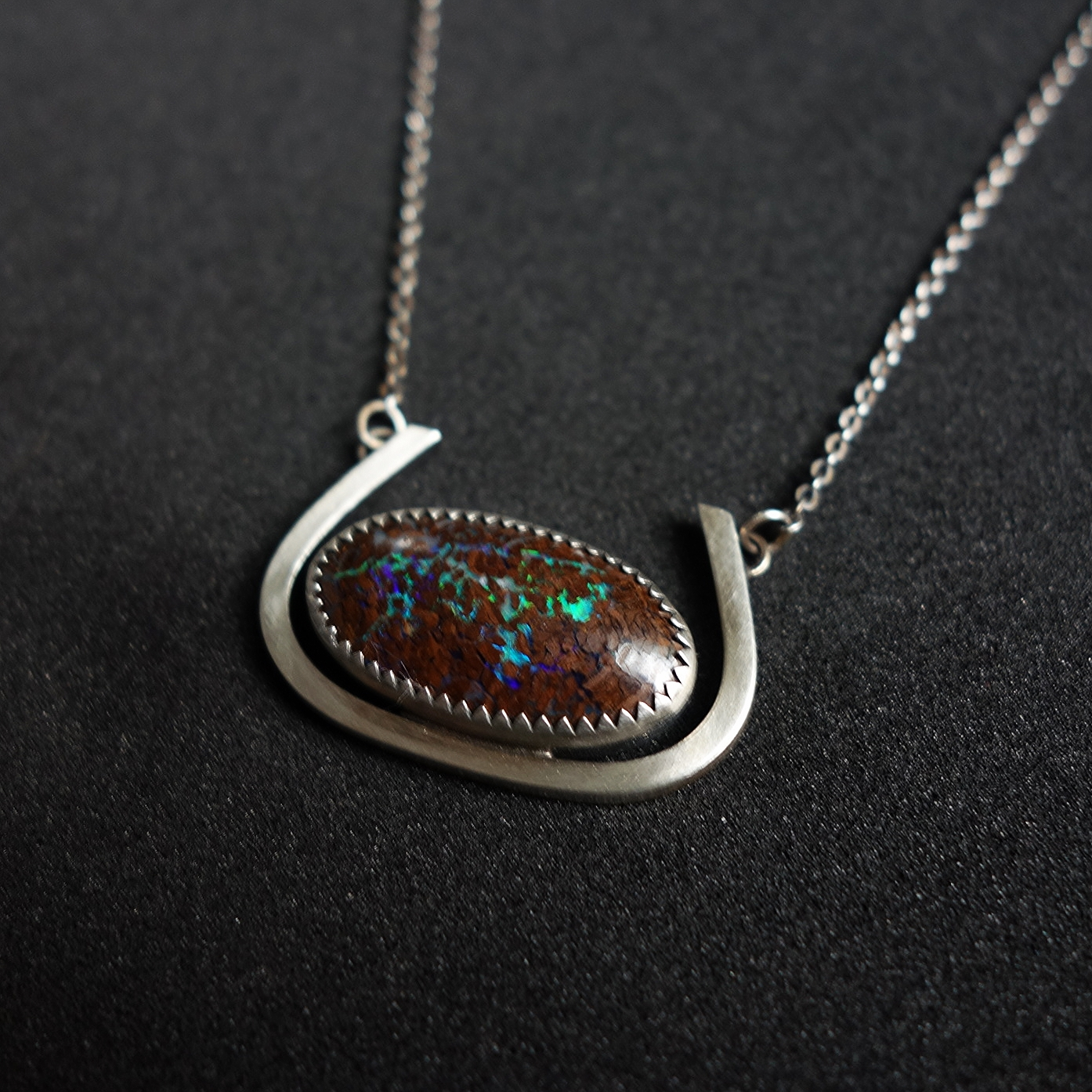 Custom Bolder Opal Necklace - MERITMADE