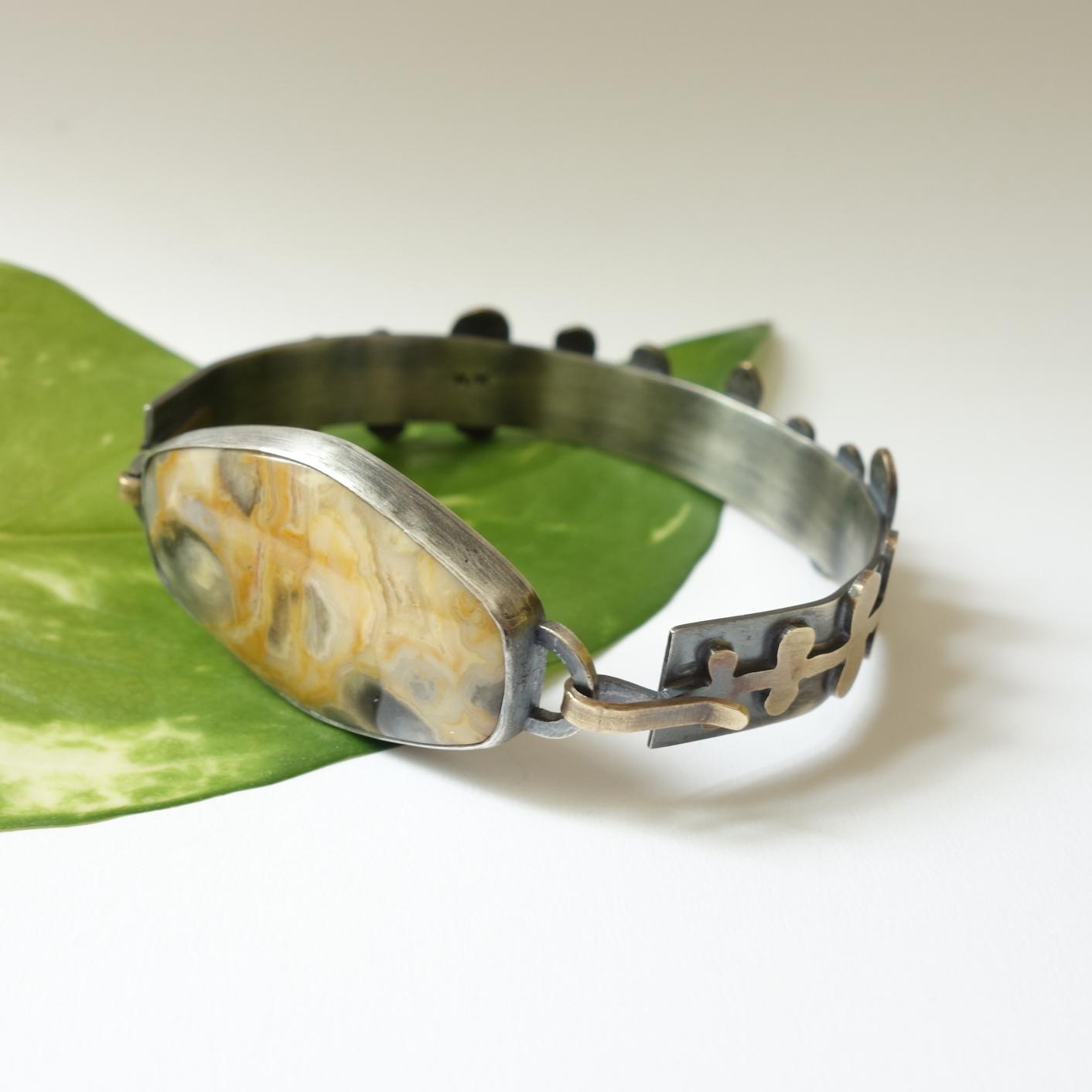 Whimsical Fern Bracelet kansas city merit made meritmade kc handmade jewelry art jewelry unique jewelry