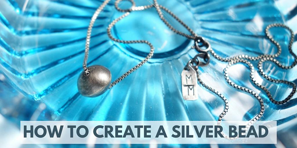 how to create a silver bead kansas city merit made meritmade kc handmade jewelry art jewelry unique jewelry