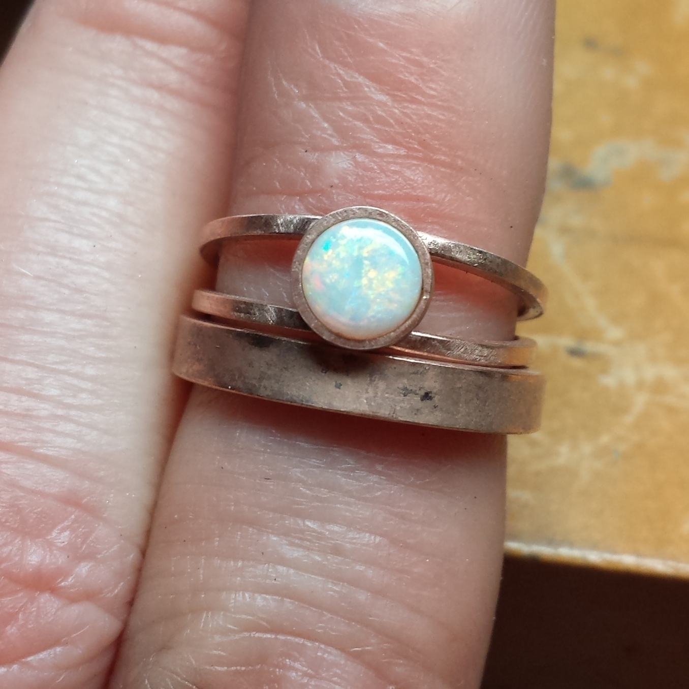 Opal and Rose Gold Ring, Process Picture - Meritmade