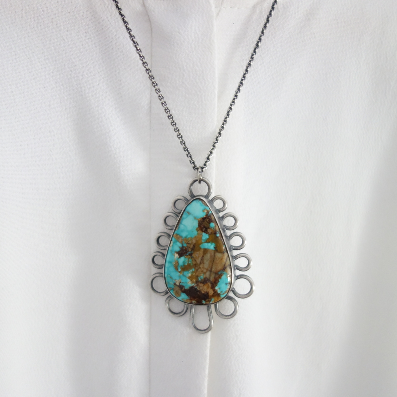 Turquoise Henna Necklace by MeritMade