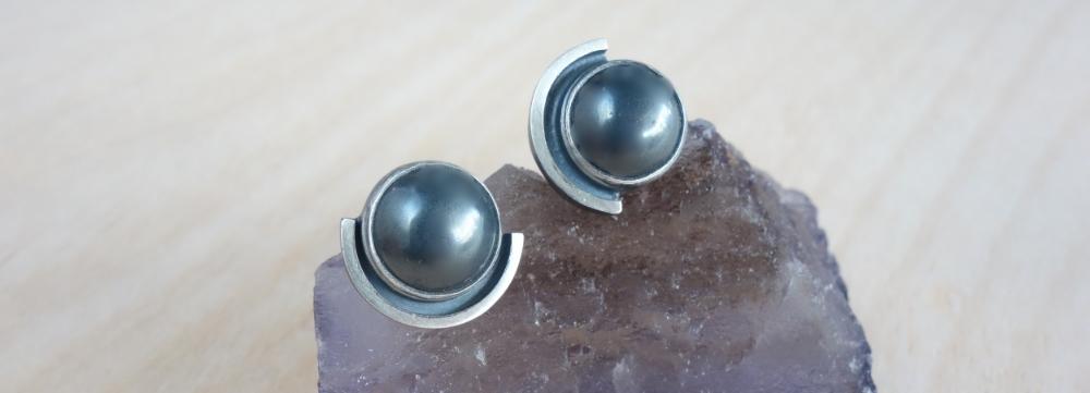 Hematite Earrings by MeritMade kansas city merit made meritmade kc handmade jewelry art jewelry unique jewelry