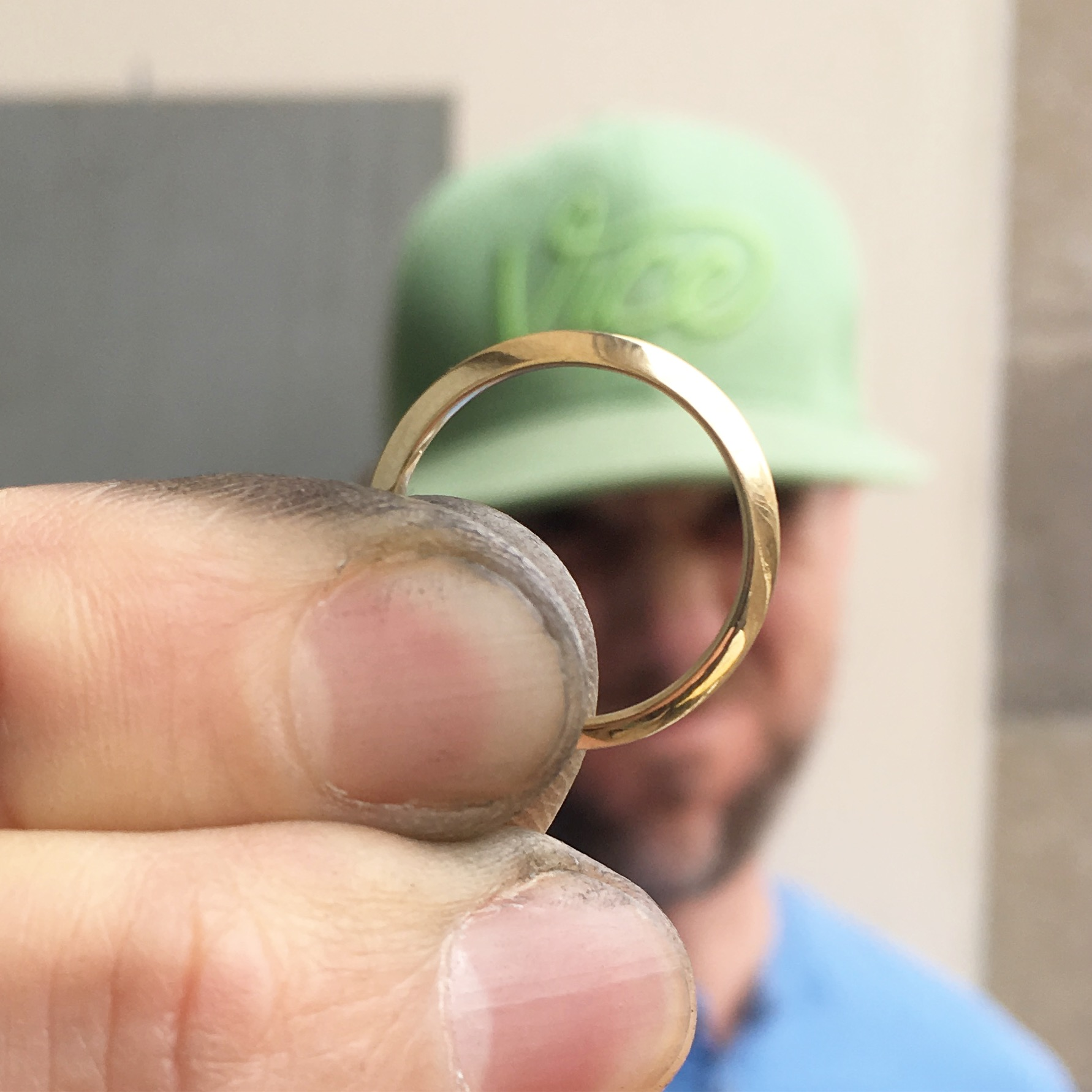 Brad makes my wedding ring MeritMade Merit Made Wedding ring simple wedding ring