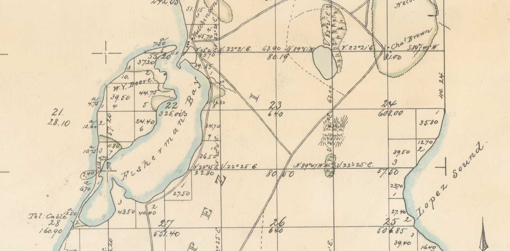 1874 Survey map (detail)