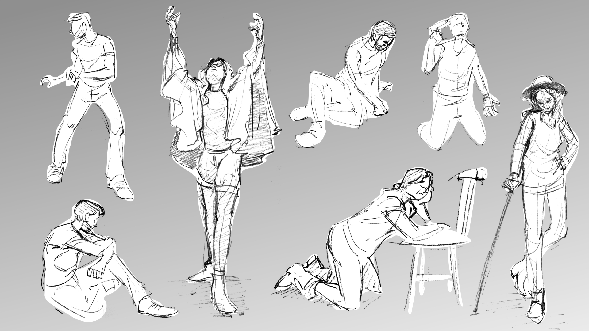 Lifedrawing - 30 sec to 5 min