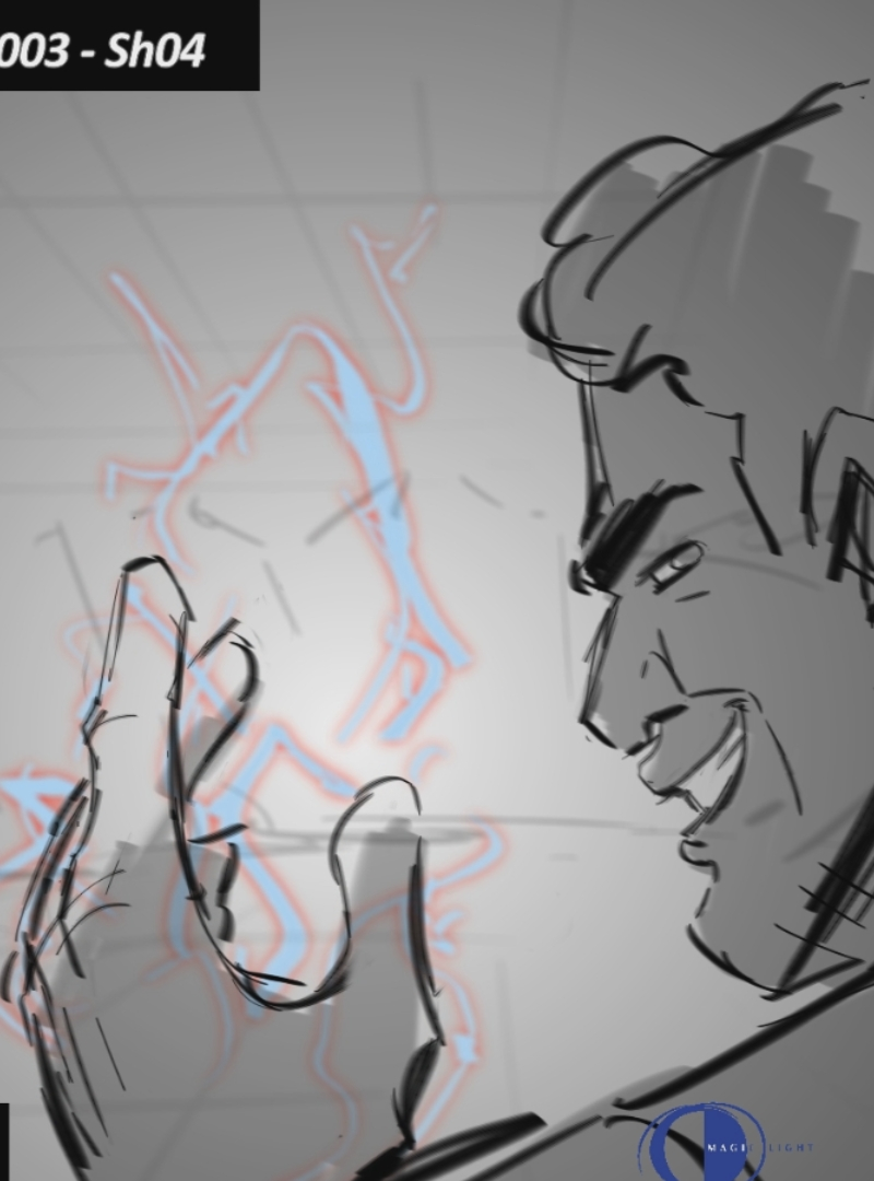'Personal Works' - 'Duel' - 2 sequences- Storyboards- Keyframing motion- Animatics