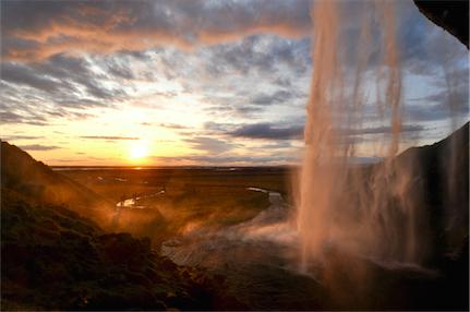 5 Sonnenuntergang Wasserfall *