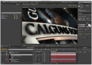 Adding camera moves, lighting, and depth-of-field to give the logo mass and realism.