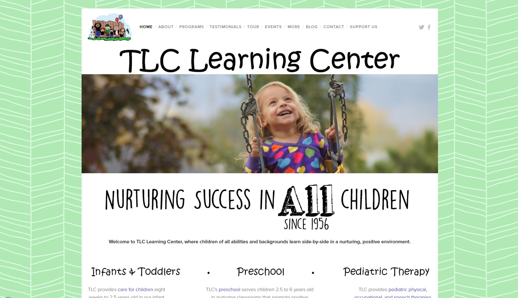 TLC Learning Center website