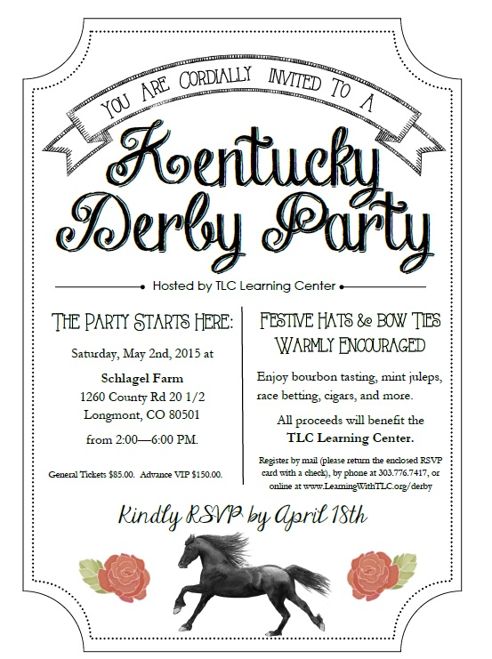 Derby Party invitation
