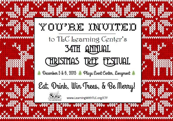 Holiday festival invitation postcard