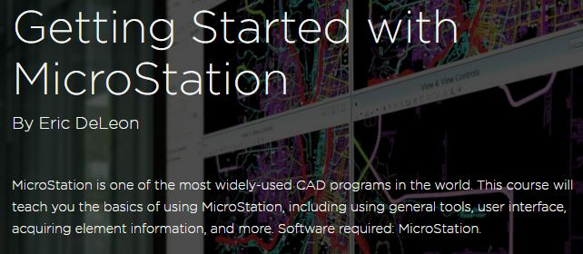 https://www.pluralsight.com/courses/microstation-getting-started