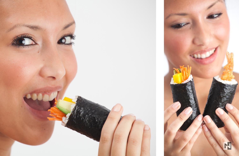 Produktportraits für das Unternehmen Sushi Rolls